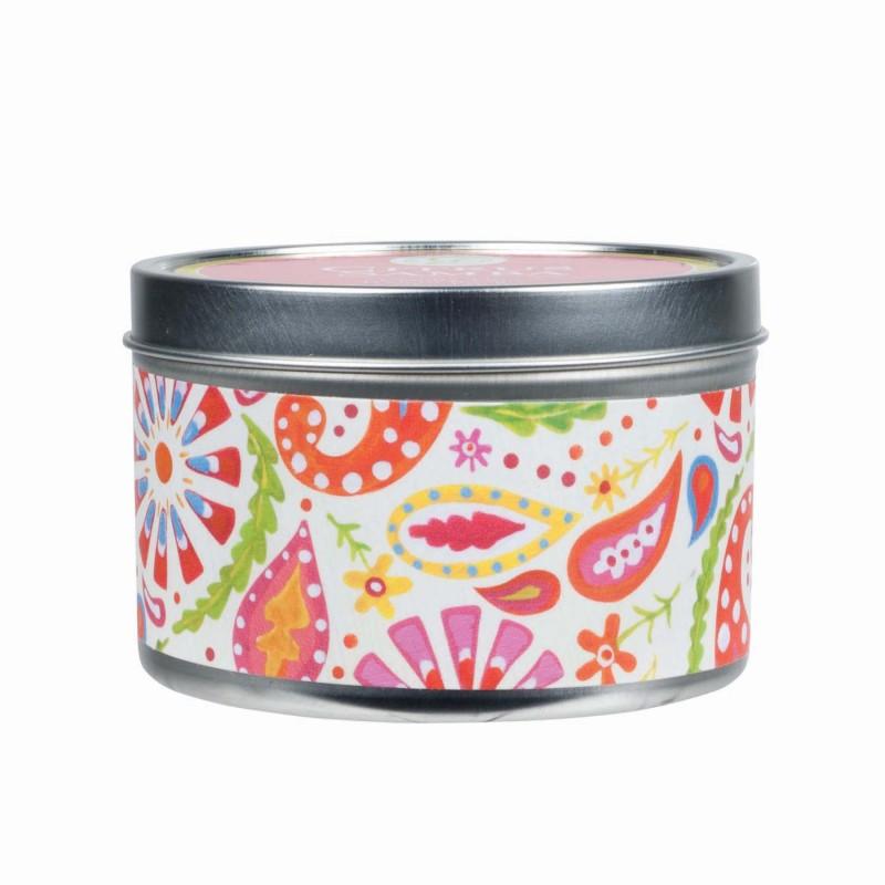 CITRUS SAMBA vaisiu ir vyno kvapo kvapi žvakė, GREENLEAF Tin 170 g.