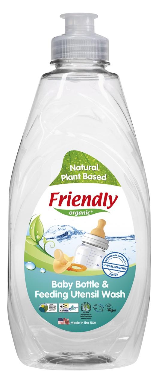 Ekologiškas buteliukų ir maitinimo indų plovimo skystis FRIENDLY ORGANIC, 414ml
