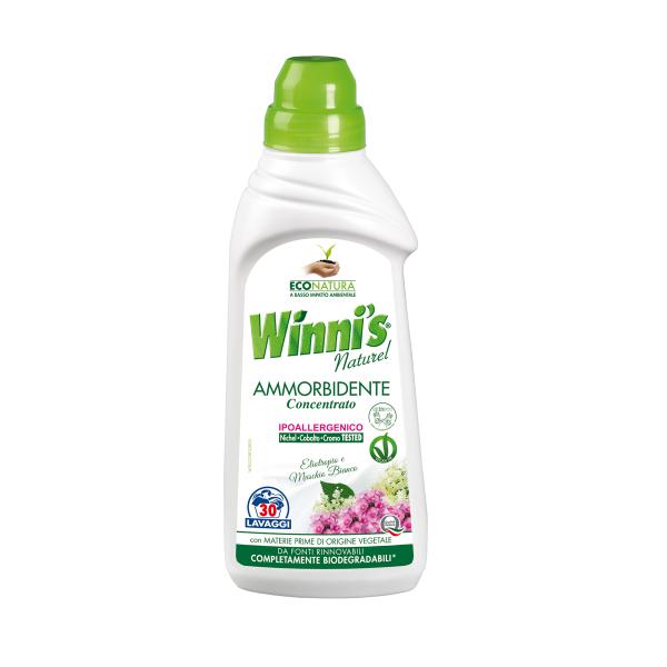Ekologiškas koncentruotas skalbinių minkštiklis baltojo muskuso aromato WINNI'S, 750ml