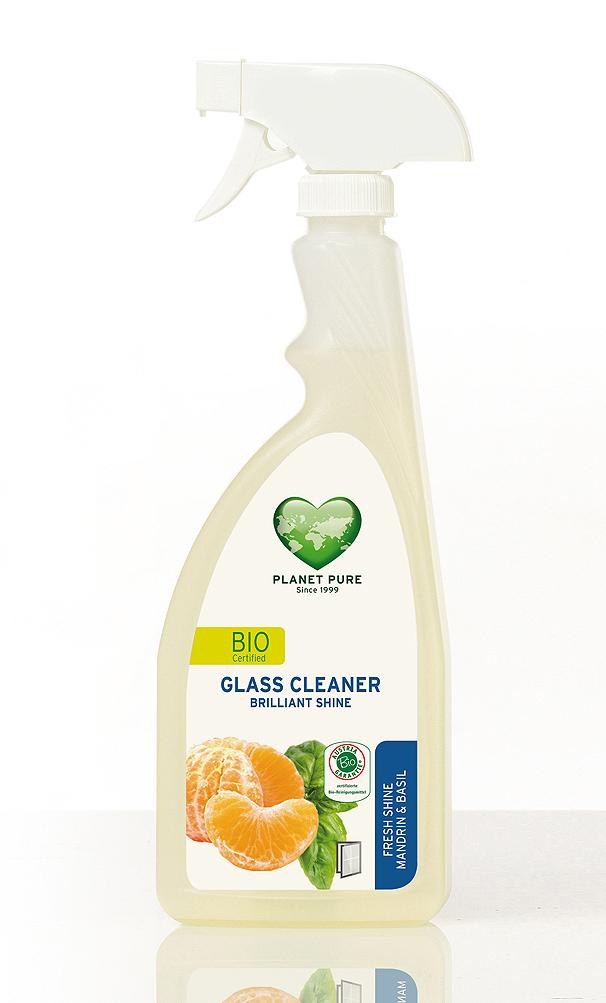 Ekologiškas PLANET PURE šviežių mandarinų ir bazilikų kvapo purškiamas stiklo valiklis 510 ml