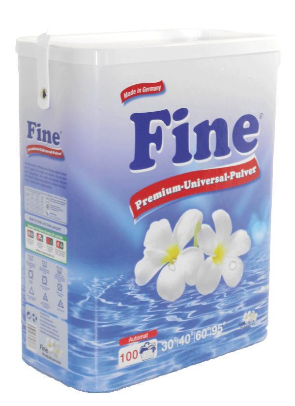 Universalūs FINE skalbimo milteliai, 100 skalbimų, 8,5kg