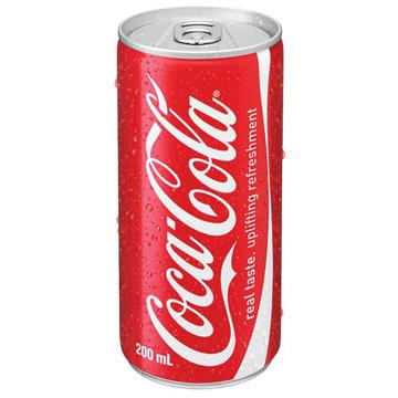 Gazuotas gaivusis gėrimas COCA COLA, 200ml (skardinėje)