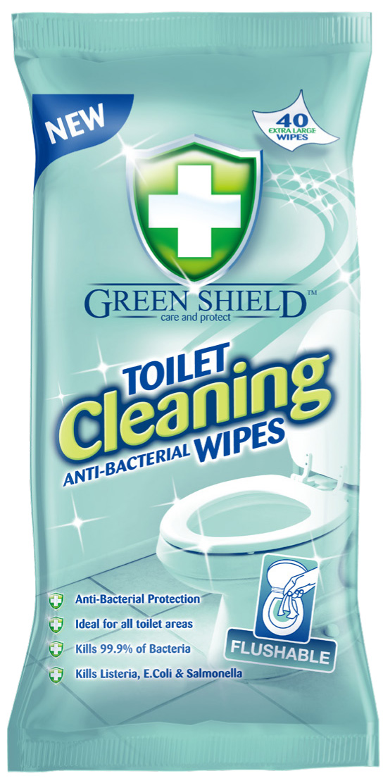 Servetėlės GREEN SHIELD, tualetams valyti, 40 vnt.
