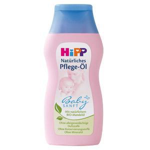 HiPP BABY SANF kūno aliejus, su vertingu natūraliu ekologišku – BIOmigdolų aliejumi, 200ml