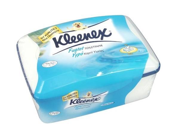 Šlapias tualetinis popierius KLEENEX, 42 lapeliai