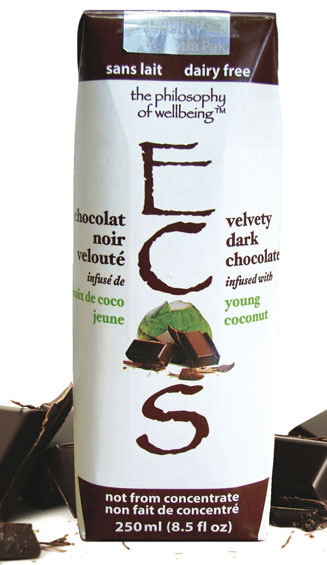 Kokosų vanduo su šokoladu ECOS, 250ml