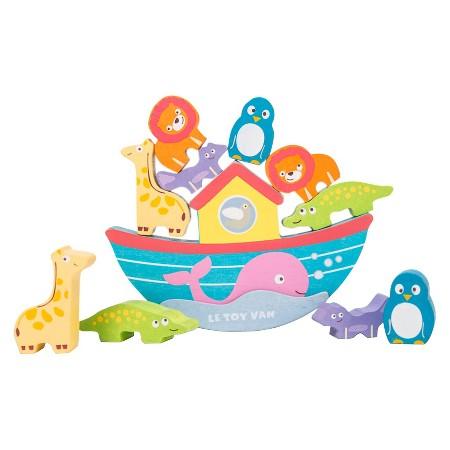 Lavinamasis supamas medinis žaislas Nojaus laivas LE TOY VAN Arks vaikams nuo 1 metų (TV214)