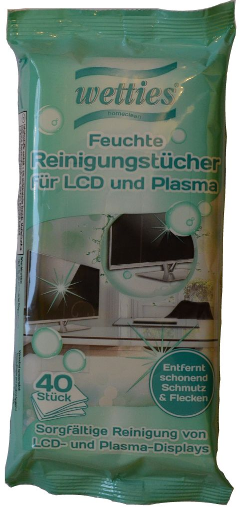 LCD ir plazminių ekranų valymo servetėlės WETTIES, 30 vnt