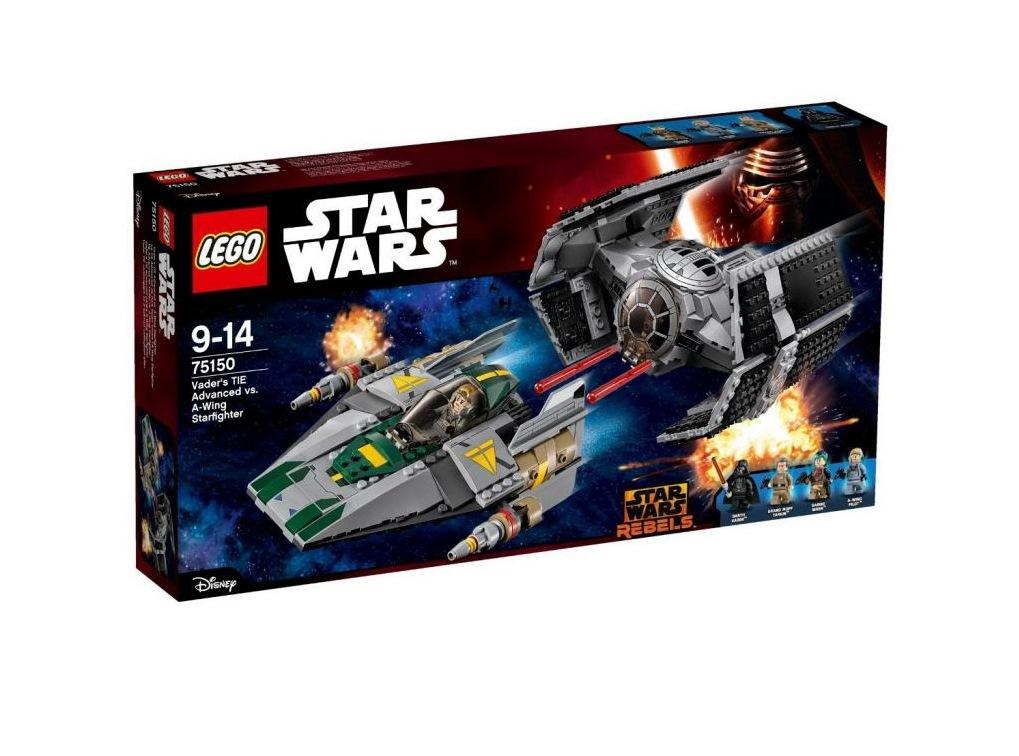 Konstruktorius LEGO Star Wars TM Veiderio pažangusis TIE prieš A-Wing Starfigh 9-14 m. vaikams (75150)
