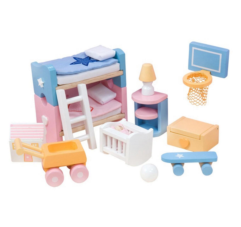 Lėlių vaikų kambario baldai LE TOY VAN Dollhouses vaikams nuo 3 metų (ME054)