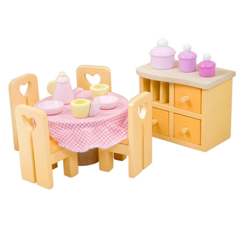 Lėlių valgomojo kambario baldai LE TOY VAN Dollhouses vaikams nuo 3 metų (ME049)