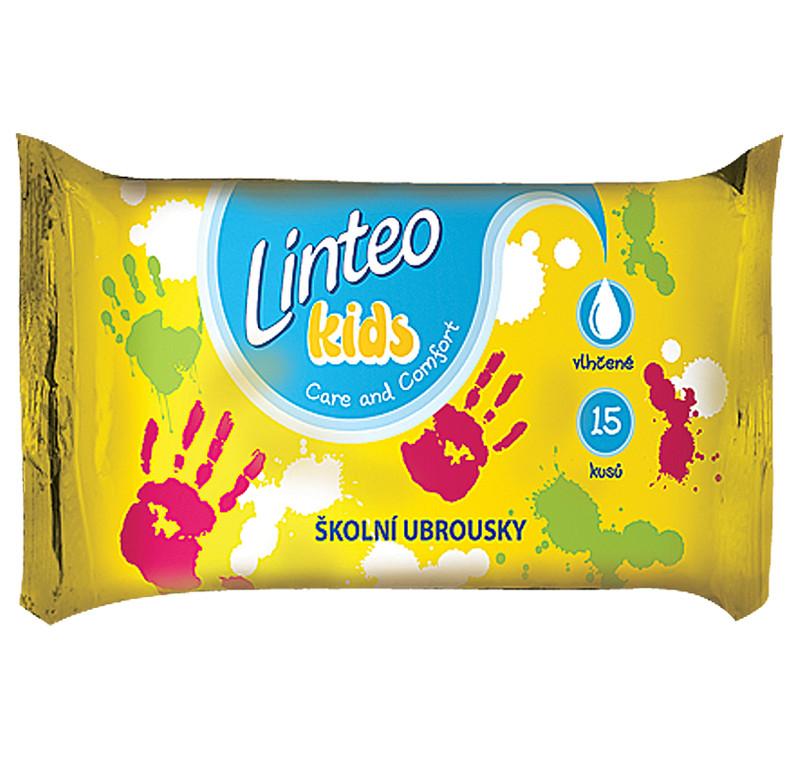 LINTEO Kids School drėgnos servetėlės vaikų rankytėms, 15vnt