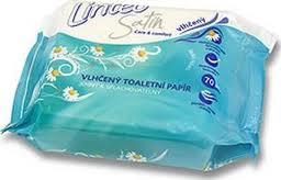 Drėgnas tualetinis popierius LINTEO Satin, 70 vnt.