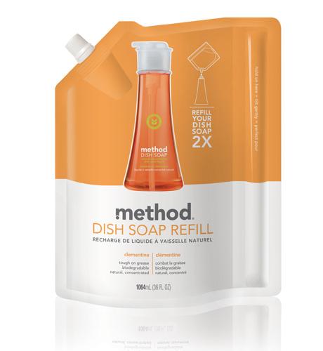 METHOD Dish Soap Clementine koncentruotas indų ploviklis (papildymas), 1064ml