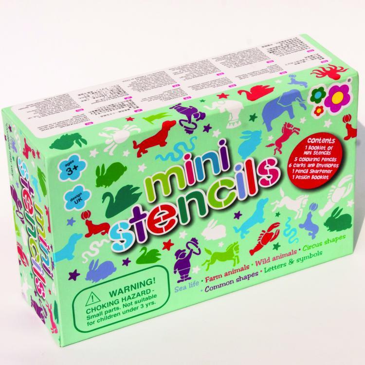 Mini trafaretų rinkinys dėžutėje MEADOW KIDS vaikams nuo 3 metų (MK174)