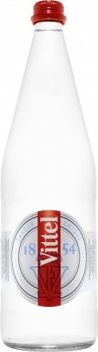 Natūralus, negazuotas, švelnios mineralizacijos vanduo VITTEL, stiklo butelyje, 1l