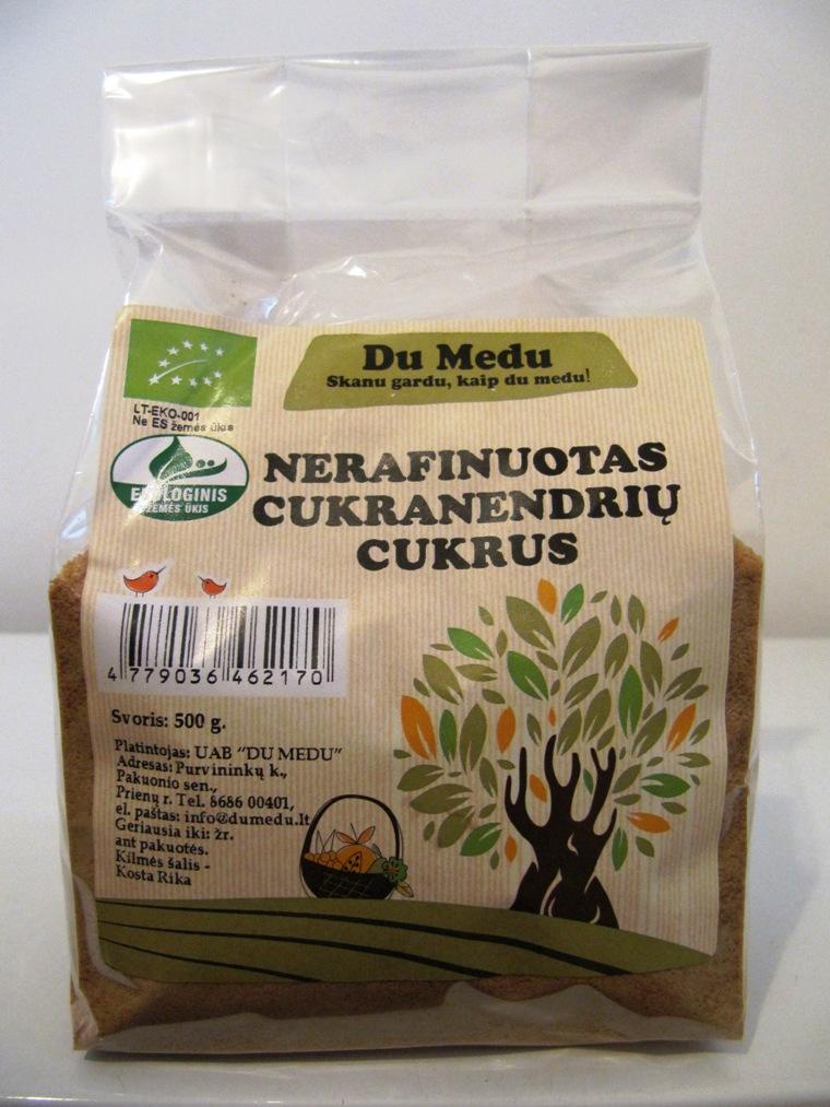 Nerafinuotas cukranendrių cukrus DU MEDU, 500g