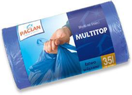 Paclan šiukšlių maišai Multitop 35 L, 30vnt.