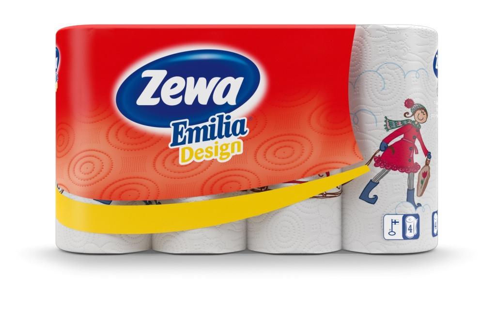 Popieriniai rankšluosčiai Zewa Emilia Winter Design, 4 vnt