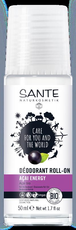 Rutulinis dezodorantas Acai Energy, Sante, 50 ml.