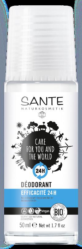 Rutulinis dezodorantas apsauga  24h, Sante, 50 ml.