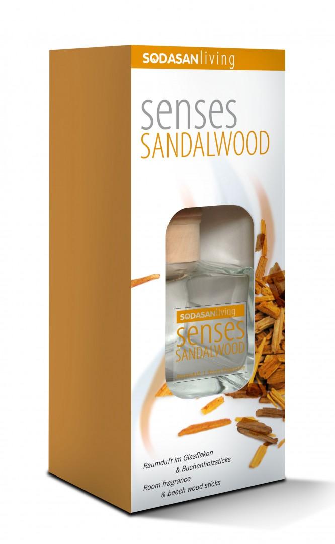 Patalpų kvapas SODASAN, sandalmedžio aromato, 200ml