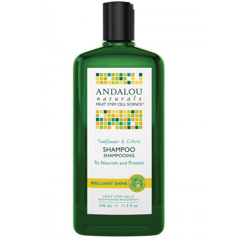 Spindesio suteikiantis šampūnas su saulėgrąžomis ir citrusais ANDALOU NATURALS, 340 ml