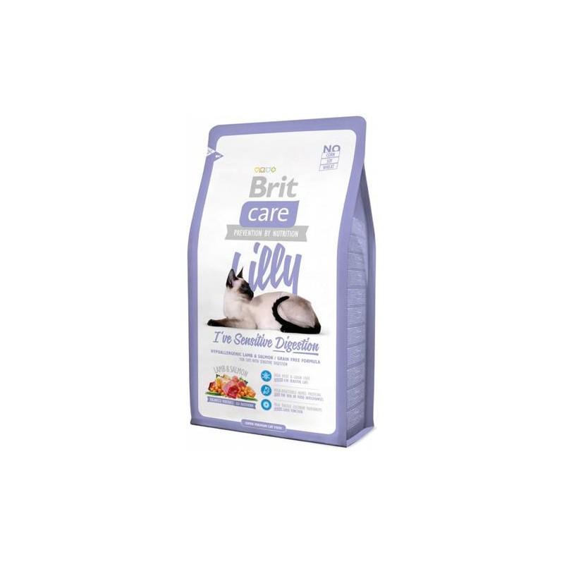 Super Premium klasės kačių maistas turinčioms jautrų virškinimą Brit Care Cat Lilly Digestion, 2 kg