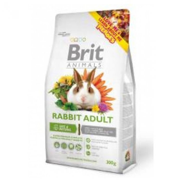 """Super Premium"""" klasės visavertis maistas suaugusiems triušiams  Brit Animals, 1.5 Kg"""