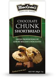 Sviestiniai sausainiai su šokolado gabaliukais MACLEANS, 200g
