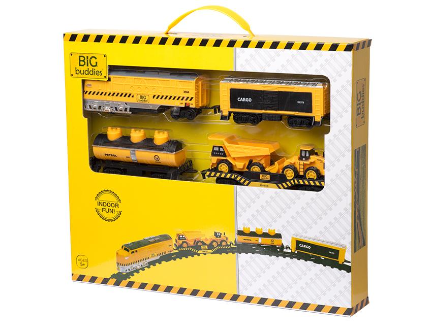 Traukinukas BIG BUDDIES vaikams nuo 5 m., 39 dal. (BB01004)