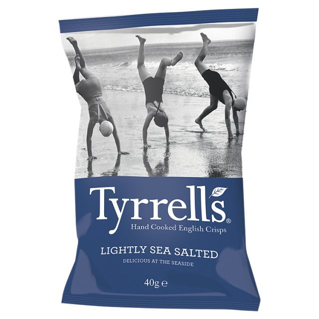 Traškučiai TYRRELLS Lightly Sea Salted, 40g