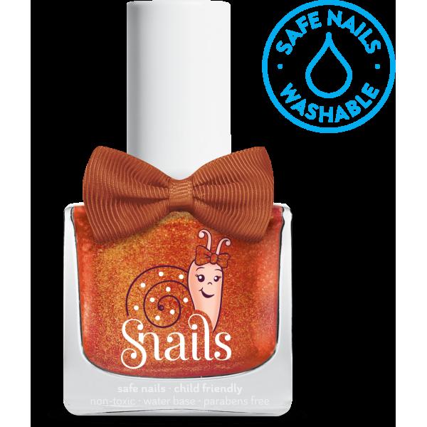 Nuplaunamas vandeniu nagų lakas Žibančios dulkelės vaikams  nuo 3 m. SNAILS, 10,5 ml