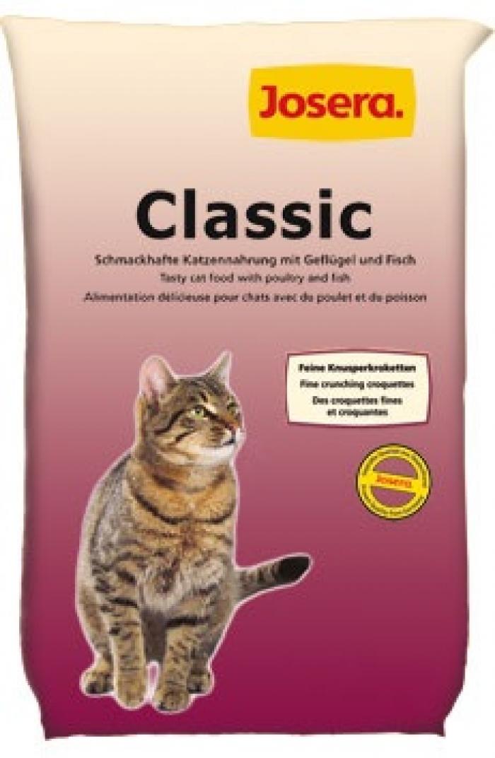 Visavertis premium klasės pašaras suaugusioms katėms su paukštiena ir žuvimJosera Classic, 4 kg