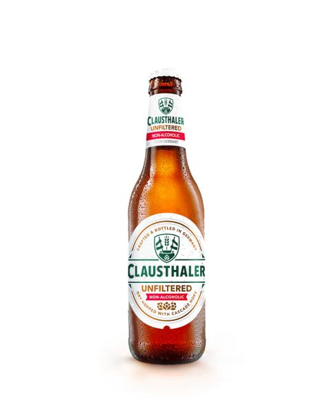 Nealkoholinis nerafinuotas alus Clausthaler Unfiltered, 0,33l