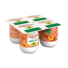 Abrikosų ir gvajavų vaisių sojų desertas SOJASUN, 4x100g
