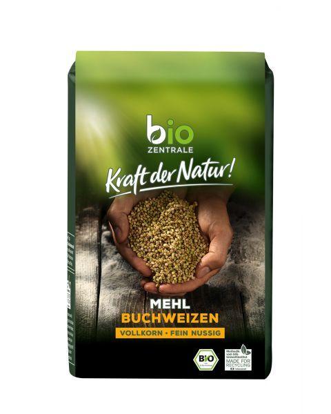 Ekologiški pilnagrūdžiai grikių miltai BIOZENTRALE, 500 g